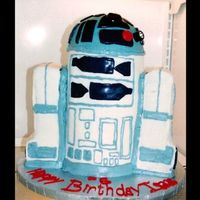 3D R2D2 First time doing a 3D cake...it was tons of fun! Thanks to SquirrellyCakes for all of her advice...I couldn't have done this cake...