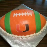 Miami Hurricanes Football College ball! Miami Hurricanes. Covered in modeling chocolate with a rice paper image.