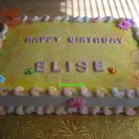 Elise Loves Springtime   Springtime cake w/butterflies for first birthday. Accompanied by cupcakes and a smash cake. Thanks for looking.