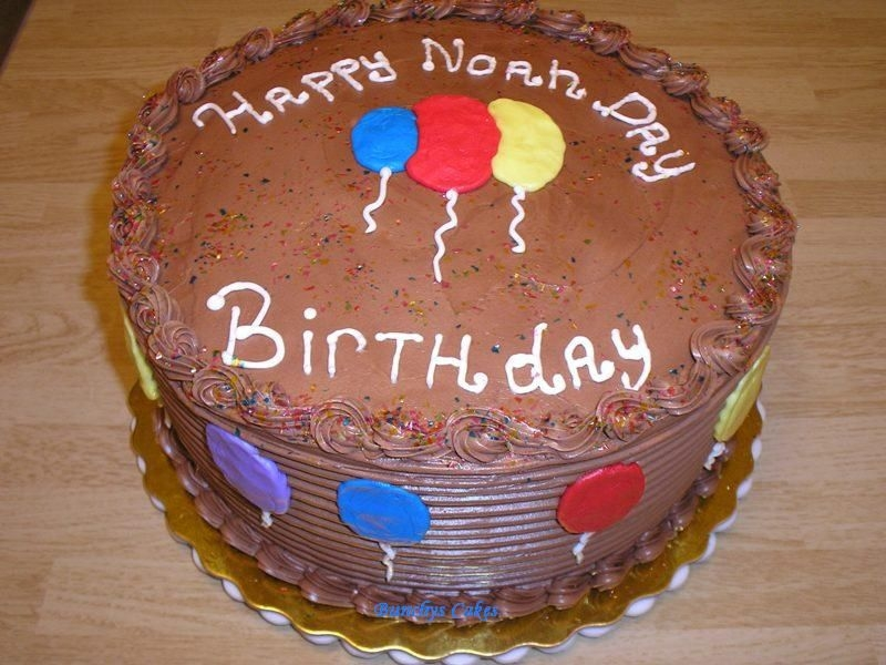 Balloon Cake For Noah First Birthday cake for Noah. Noah likes balloons. It's a Boston creme pie flavor. Thanks for looking!!