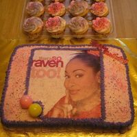 That's So Taia!! Raven birthday cake and cupcakes for Taia. Thanks for looking!!