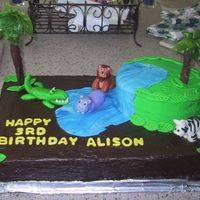 Jungle Birthday Cake I made this cake for my daughter's 3rd birthday last week. It took forever to do, but I got a lot of compliments.