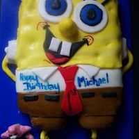 Spongebob I made this for my son's first birthday and on seeing it he exclaimed (for the first time) SPONGEBOB!:)