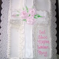 Confirmation Cross Cake All whipped cream