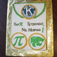 Math Teacher Key Club Advisor Retirement Sheet Cake