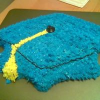 Graduation Cake Here is the cake I made for my DD Graduation. Its a carrot cake with creaqm cheese icing.