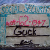 62Nd Birthday Social Security Card