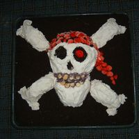 Skull & Cross Bones PIRATE FLAGMy granddaughter's 6th birthday theme was Pirates