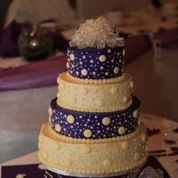 Eggpant Purple Wedding cake ... purple .... Buttercream icing