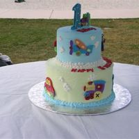 First Birthday Cake   This cake was done with candy melts to match the birthday party plates and theme. So much fun to do and everyone raved about it.