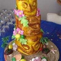 Tiki Cake This is one of two tiki cakes I did last weekend for my friend's birthday. She put the plastic palm trees and the 30 candle on it. It...