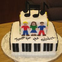 Retirement Cake For Kinder/music Teacher