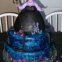 Ursula The Sea Witch Disney Villain 30Th Birthday Cake This cake was for my good friend's 30th birthday who loves the Disney Villains!