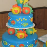 Fish First Birthday Cake This cake is from the new 2007 Wilton yearbook. I changed the colors to match the party.