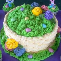Easter 2008 Cake This was our family 2008 Easter cake with cupcakes made to match.Cake was Lemon cake, with lemon curd filling and cream cheese lemon...