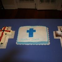 Baptism Cakes   3 cakes I made for my 3rd son's baptism in 2004 (just learned to upload! :-) )