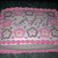 Admin Day I tried this cake after I learned the brushing out technique. I still suck at writing on cakes. If anyone has tips, please let me know....
