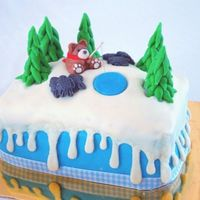 Ice Fishing Bear Hi! This is the first decorated cake I ever made, so I would like some input (positive or negative). This is a whisky and almond cake I...