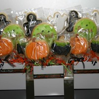 Halloween Cookie Bouquets A few cookie bouquets that I've made for Halloween. RBC with royal decorations.