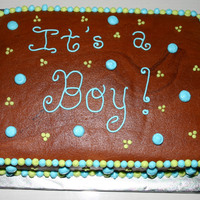It's A Boy! All buttercream. Inspired by CutsieCupcake.