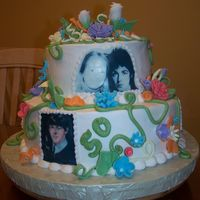 Paul Mccartney Fan's 50Th I replaced Linda mcCartney with the birthday girl and made an edible image!