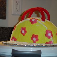 "Birthday Purse Cake This is my first amature attempt at a 3D cake. I was inspired by all the other cakes I have viewed on this fantastic site! I ""had&quot..."