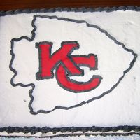 Kansas City Chiefs Chiefs bday cake for a friend