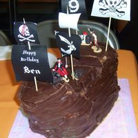 Pirate Ship Pirate ship cake for my sons 9th birthday.