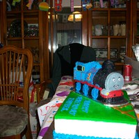 Thomas The Tank Engine Birthday Cake Thomas the Tank Engine, all buttercream, made using the Wilton 3-D train pan