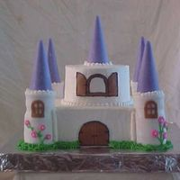 My First Castle Cake This cake was done for the county fair competition and is completely edible, the turrets are stacked cake round, cut out with a small glass...