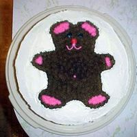 Teddy Bear Cake 2 layer, filled cake...just for practice