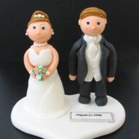 Wedding Cake Topper This is a wedding topper I made for a recent wedding. It took a long time. I've never done any figures that are free standing! I was...