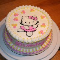 Hello Kitty Lemon cake with lemon filling. I made this cake for my nieces 5th birthday, she just loves Hello Kitty.