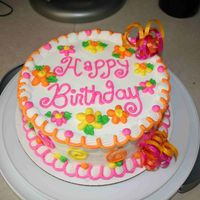 Happy Birthday A copy of Cakery's Bold n Bright. I just love the look and style of Cakery's cakes, they put a smile on everyone's face....