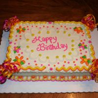 Happy Birthday 100% copy of Cakery's beautiful cake. Carrot cake, crusting cream cheese, cream cheese filling with pineapple.