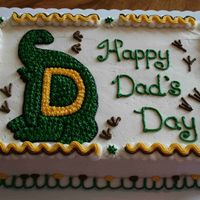 Happy Dad's Day Inspired by Cakery, the idea of this cake was inspired by her T-Rex cake. It is chocolate cake, raspberry filling, and Fiori Di Sicilia...