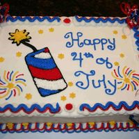 Fourth Of July 2007 Devils Food cake, Nutella filling, and buttercream. I made this for a potluck at my parents house. It is inspired by Cakery's cake&#...