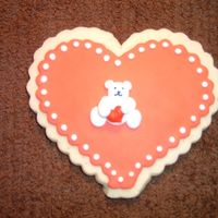 Valentine Bear Cookie   Another variation on my valentine day bear cookies.
