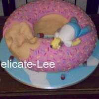 "Homer This cake I did for my first comp! The theme was ""The man in your life"" The cake was a fruit cake which was 13"" round...."