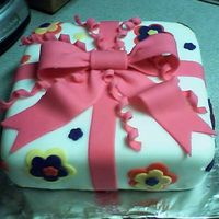 Gift Cake   Covered in fondant.