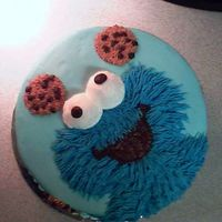 Cookie Monster   Made for 1 year old. All BC.