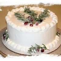 Holiday Cake  This is a godiva marble cake with whipped white chocolate cream cheese icing. I whipped the cream cheese in cold for a spackled effect on...
