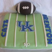 Brentons 3Rd Birthday All edible. Football is rice krispie with chocolate fondant. UK is edible image.