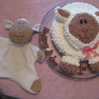 "Lamby Cake For my daughter's first birthday cake I replicated her lovie - ""Lamby"""