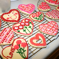 Valentine's Day Cookies Decorated with buttercream.