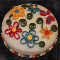 Quilling Cake  Today I tried something I've wanted to try for a long time - fondant quilling. Since it is such a grey, rainy day in Norway today, I...