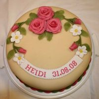 Confirmation Cake Today is my daughter's Confirmation Day. I've made this cake for her. It's a spongecake filled with wild strawberry jam,...