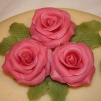 Marzipan Roses   The roses on my daughter's confirmation cake.