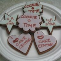 Practice Cookies These are chocolate sugar cookies covered in MMF and royal icing. They were just a trial run.