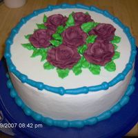 Just A Cake To Practice Roses